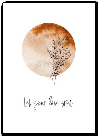Wenskaart Let your love grow