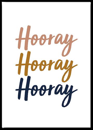 Wenskaart verjaardag Hooray