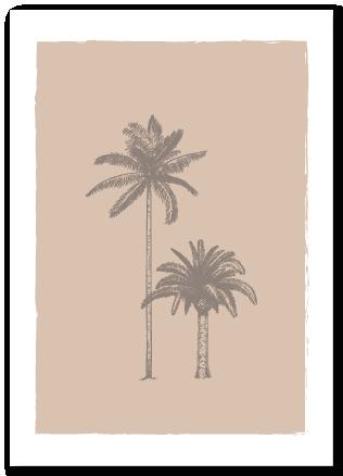 Wenskaart palmbomen