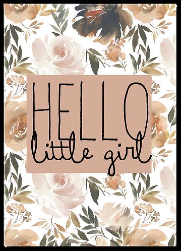 Wenskaart geboorte meisje bloemen