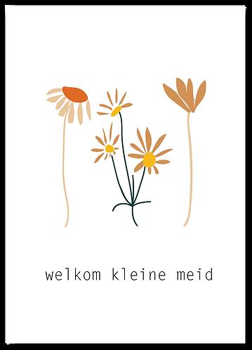 Wenskaart Welkom kleine meid