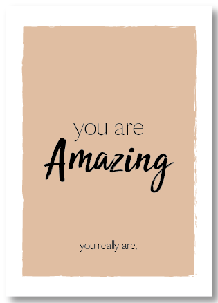 Wenskaart you are amazing, you really are