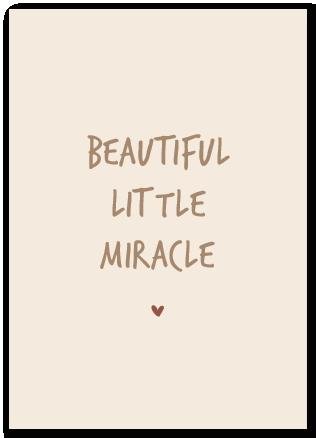 Wenskaart Beautiful little Miracle