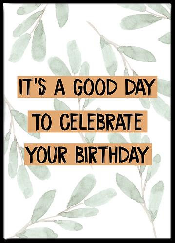 Wenskaart Verjaardag quote vrolijk
