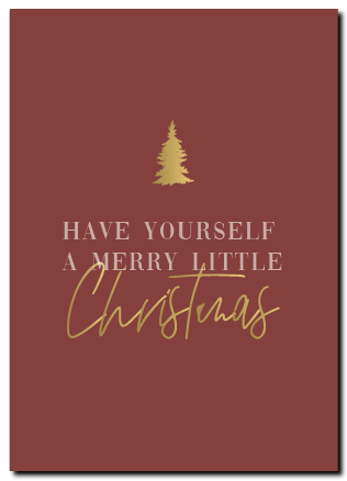 Kerstkaart Have yourself a merry little Christmas