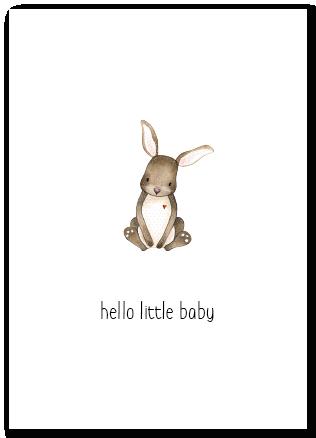 Wenskaart Hello little baby