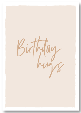 Wenskaart verjaardag - Birthday hugs