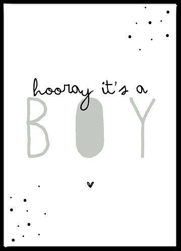 Wenskaart it's a boy!