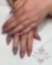 Acrylic nails for _tiaajessicaa ._Using