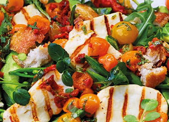 Rosemary Lamb, Haloumi & Mixed Herb Salad (GF)