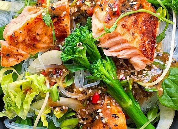 Salmon and Glass Noodle Salad (GF)