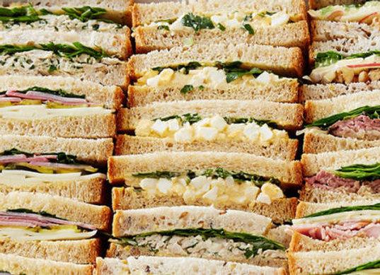 Ribbon Sourdough Sandwiches