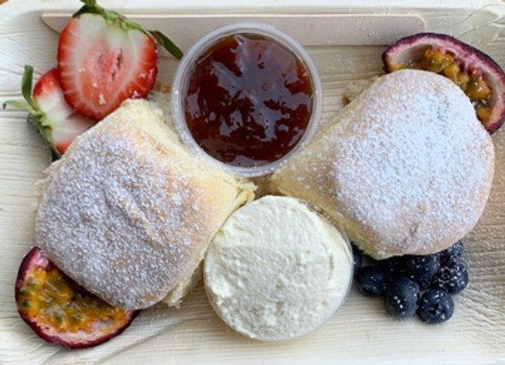 Buttermilk Scones, Cream & Jam (2 Piece) Pack