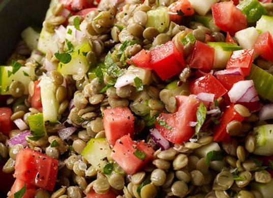 Lentil and Tabouleh Salad (VG)(GF)