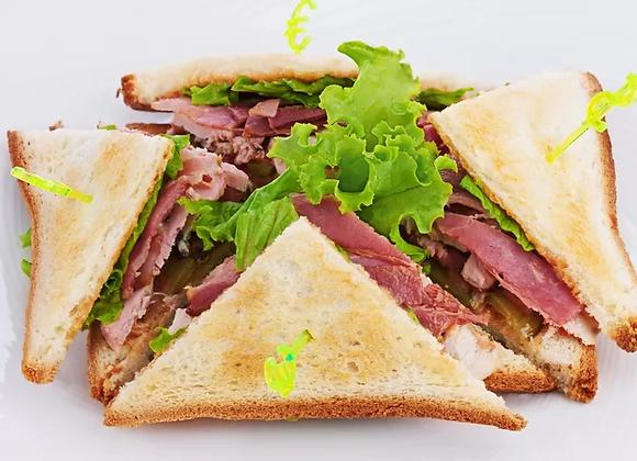 Sandwich, Salad And Juice Box