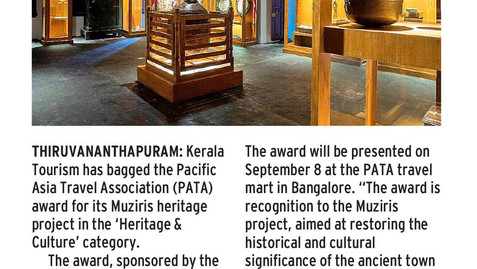 PATA AWARD FOR THE MUZIRIS HERITAGE PROJECT