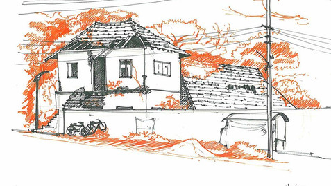 PORT BUILDING SKETCH, ALLEPPEY
