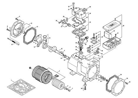 Bitzer 2EES-2Y Motor