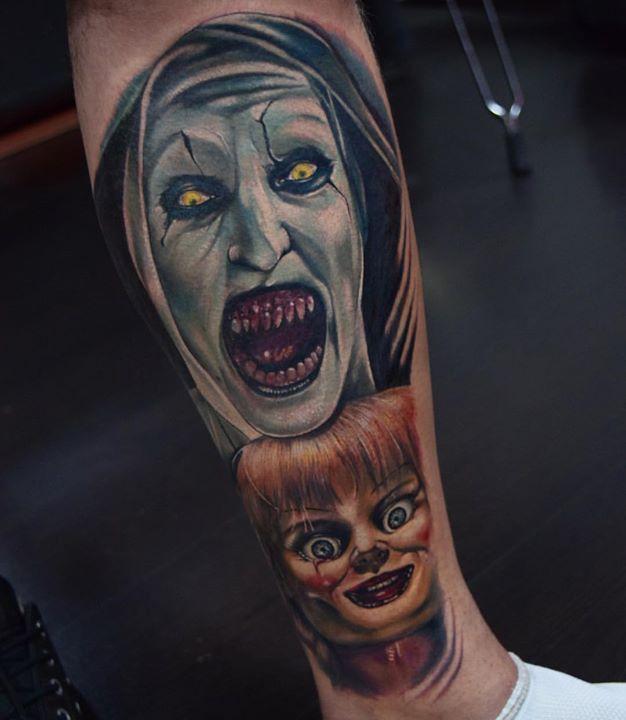 #anabelle #valak #elconjuro2 #elconjuro Tatuaje en _inkedtattooshop _WhatsApp 3173775667_Productos _