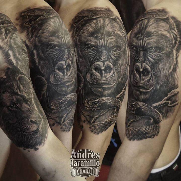 Tatuaje realizado el dia sabado en #calink__bnginksociety _paulbooth _inkedmag _intothewoodsgallery
