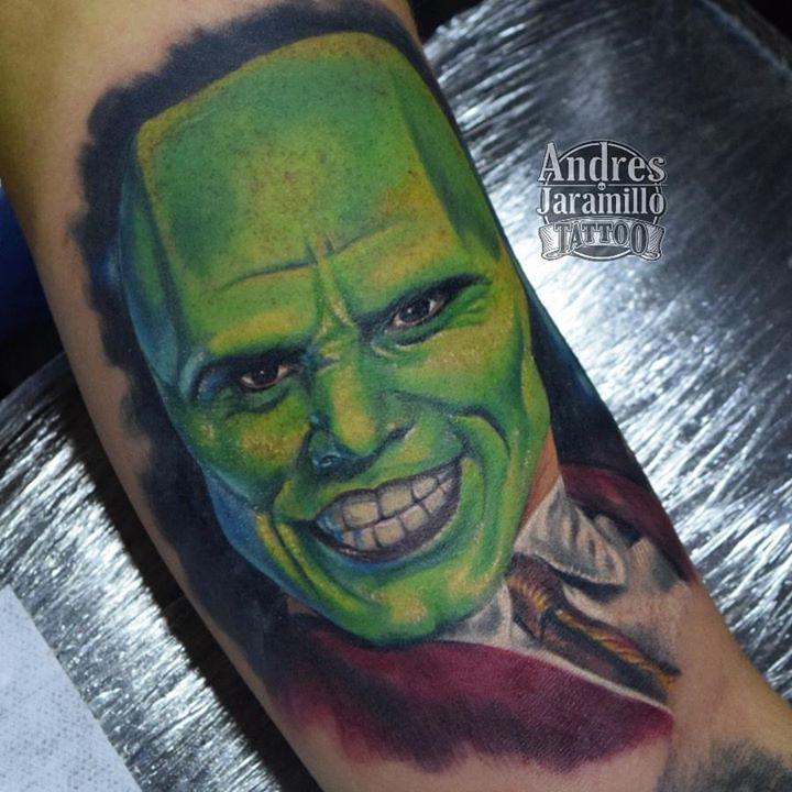 #lamascara Tatuaje en _inkedtattooshop _Whatsapp 3173775667_Productos _mundoskink __colombiaink_Con