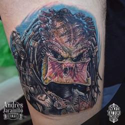 Segundo día #alien #alienvspredator  Tatuaje en _inkedtattooshop _Whatsapp 3173775667_Productos _mun