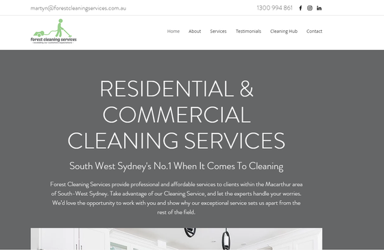 Introducing Forest Cleaning Services' new website