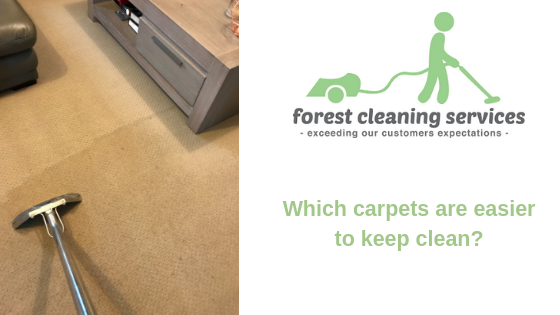 Which carpets are easier to keep clean?