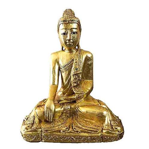 Thai Buddha Covered in Gold Leaf