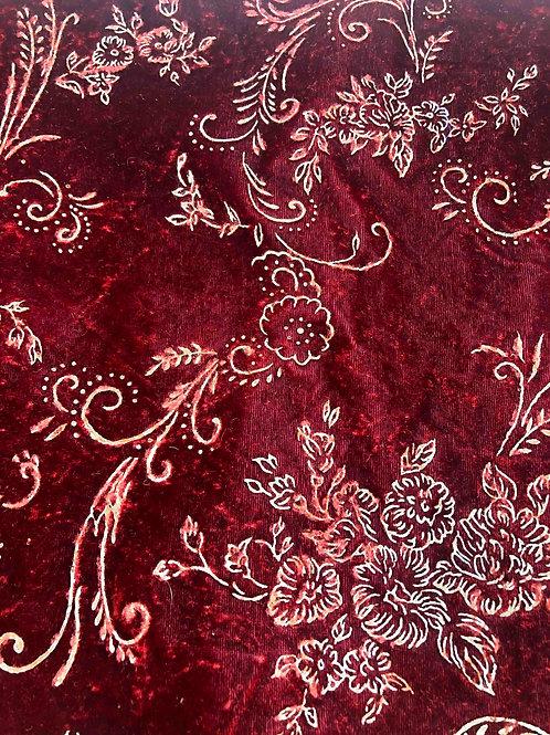 Velvet and Gold Embossed Fabric