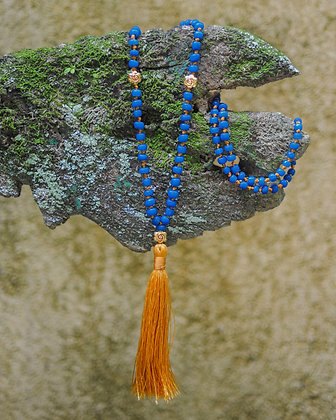 Blue Burmese Beads