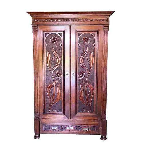 Art Nouveau Antique Armoire
