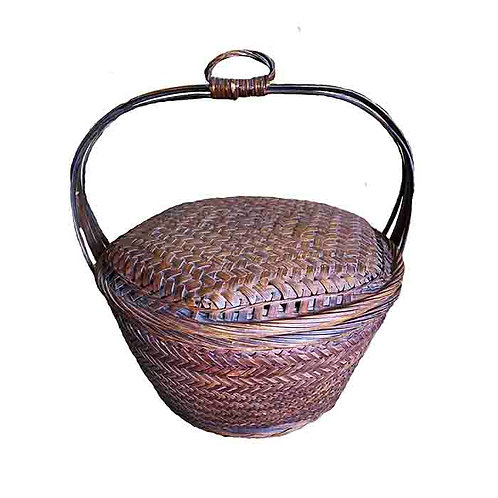 Bamboo Antique Basket from Laos