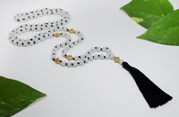 White Burmese Beads