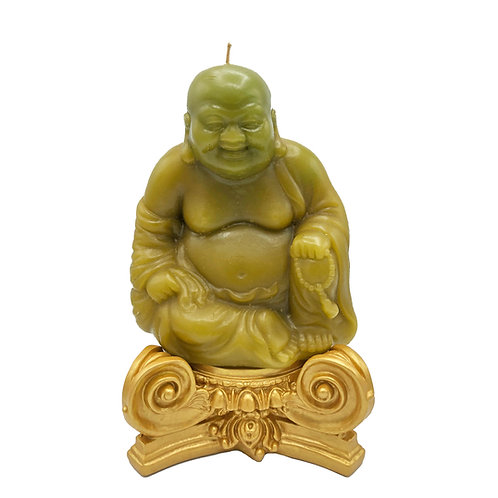 Buddha Candle Set on Gold Base