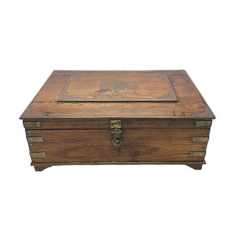 Wood Anglo Raj Antique Box