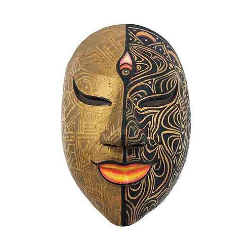 Gold/Black Vintage Balinese Mask
