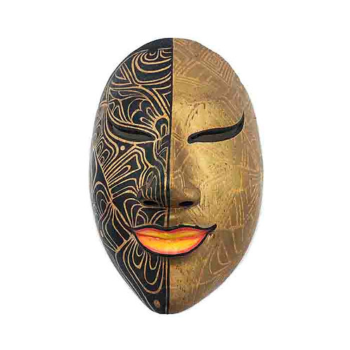 Black/Gold Vintage Balinese Mask