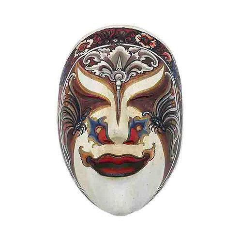 White Vintage Balinese Mask