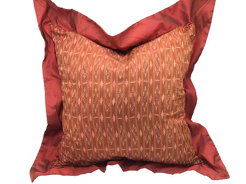 Vintage Red Thai Silk Pillow