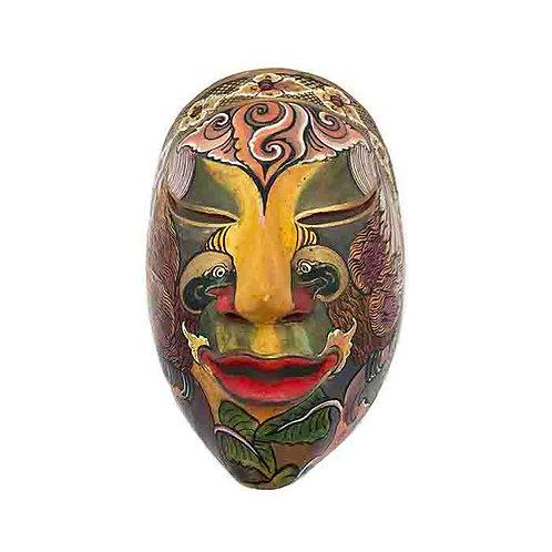 Rust Vintage Balinese Mask