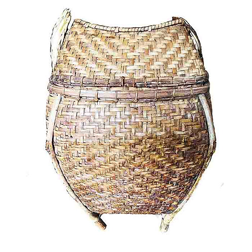 Hill-Tribe Bamboo Antique Thai Basket