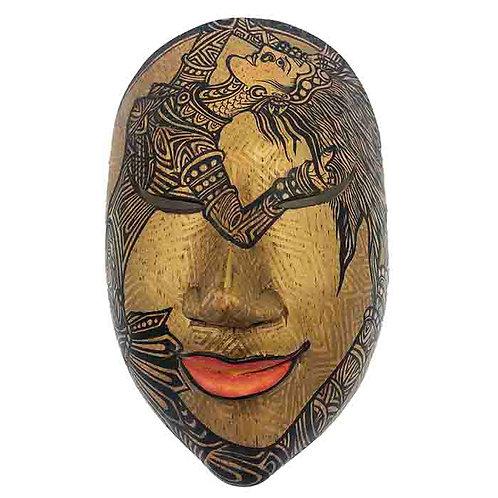 Gold Vintage Balinese Mask