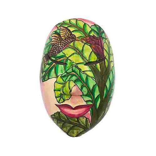 Green Vintage Balinese Mask