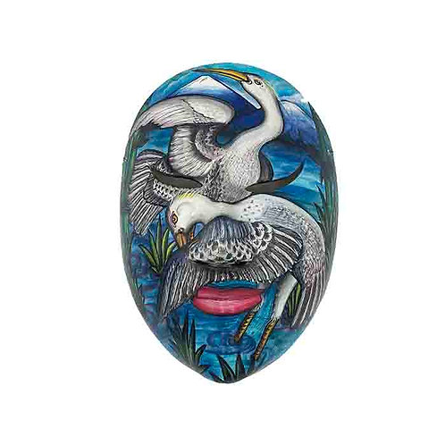 Blue Vintage Balinese Mask