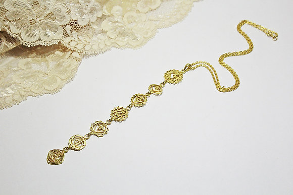Chakra Necklace in 22K Gold Vermeil
