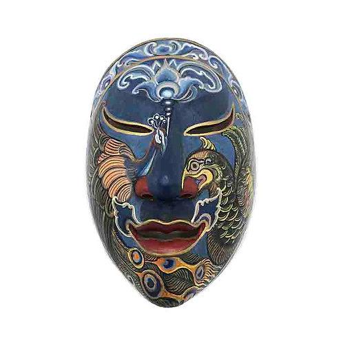 Navy Blue Vintage Balinese Mask