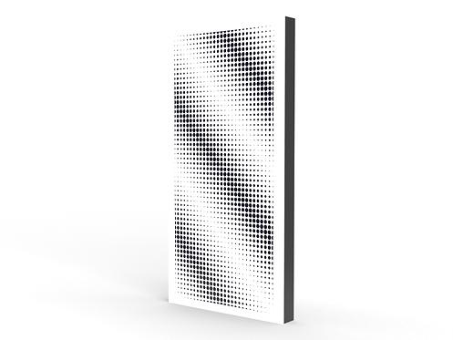 Halftone Diagonals Long Sound Diffuser Panel