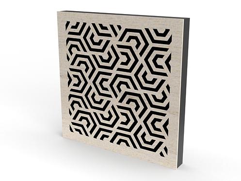 2 x Square Hex Mex Sound Diffuser Panels