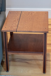 Lacewood End Table w/ Wenge Accent